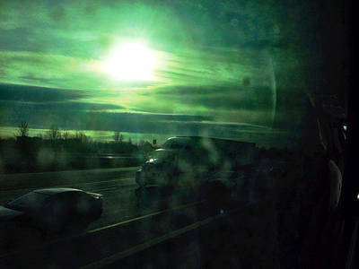 Cars Photograph - Through The Greyhound Window Home by Kreddible Trout
