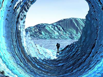 Digital Art - Through The Ice by John Pangia