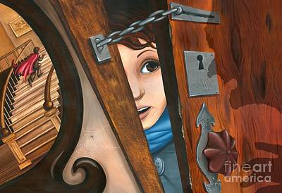 Through The Keyhole Art Print by Denise M Cassano