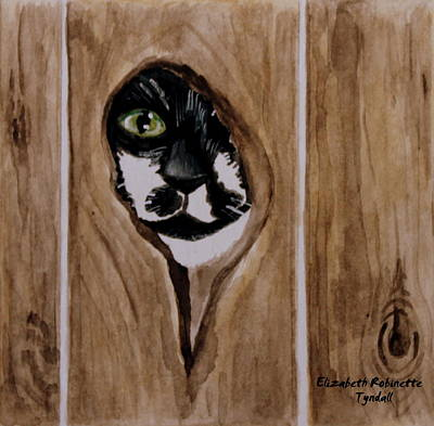 Painting - Through The Knothole by Elizabeth Robinette Tyndall