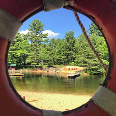 Photograph - Through The Life Preserver by Donna Doherty