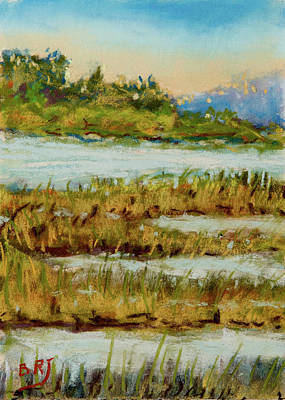 Painting - Through The Marsh by Barry Jones