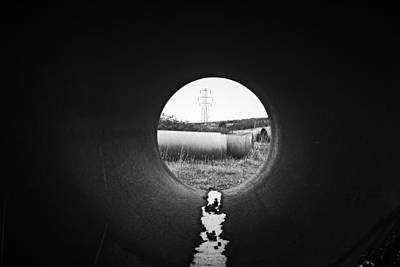 Through The Pipe Art Print by Keith Elliott