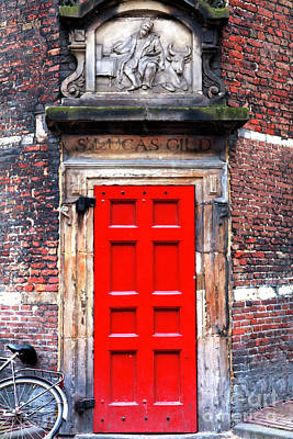 Photograph - Through The Red Door In Asmsterdam by John Rizzuto