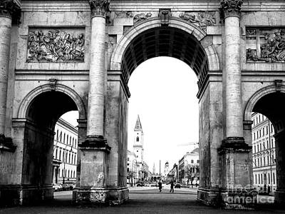 Photograph - Through The Siegestor by John Rizzuto