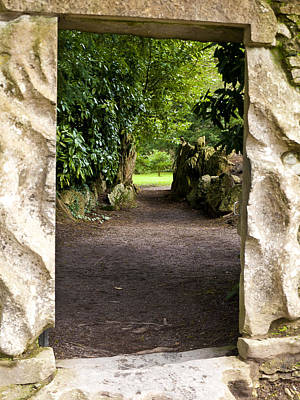 Through The Stone Wall Art Print by Rae Tucker
