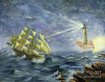 Art Print featuring the painting Through The Storm by Kristi Roberts