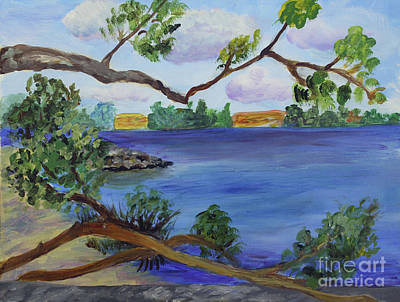 Painting - Through The Trees At Ocean Inlet Beach by Donna Walsh