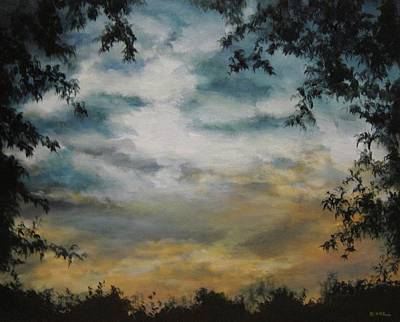 Painting - Through The Trees by Diane Kraudelt