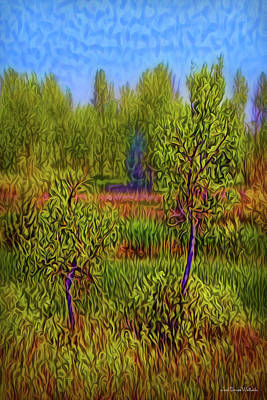 Digital Art - Through The Trees by Joel Bruce Wallach