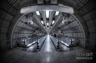 London Tube Photograph - Through The Tunnel by Evelina Kremsdorf
