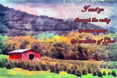Farm Stand Digital Art - Through The Valley by Michelle Greene Wheeler