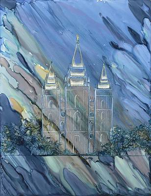 Church Of Jesus Christ Of Latter-day Saints Painting - Through The Veil by Lisa  Marsing