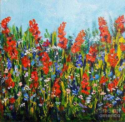 Through The Wild Flowers Art Print