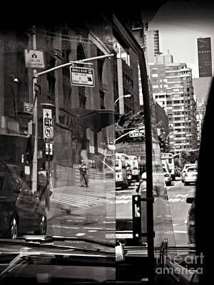 Photograph - Through The Window - A Drive Through Nyc by Miriam Danar