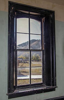 Photograph - Through The Windows Of Bannack 1 by Teresa Wilson