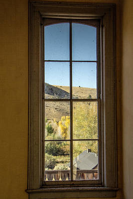 Photograph - Through The Windows Of Bannack 2 by Teresa Wilson