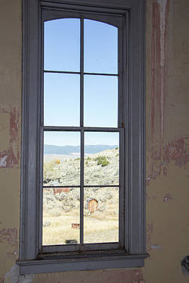 Photograph - Through The Windows Of Bannack 3 by Teresa Wilson
