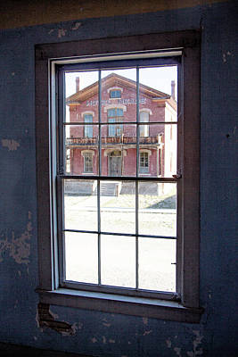 Photograph - Through The Windows Of Bannack 4 by Teresa Wilson