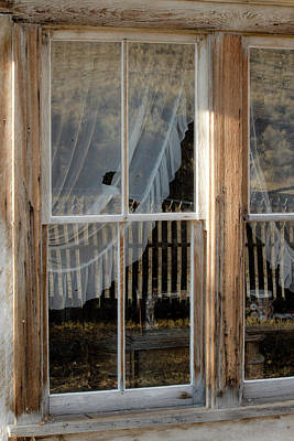 Photograph - Through The Windows Of Bannack 5 by Teresa Wilson