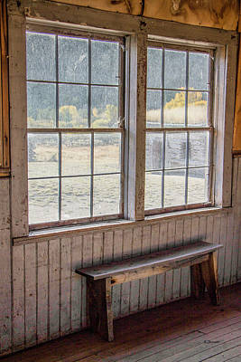 Photograph - Through The Windows Of Bannack 7 by Teresa Wilson
