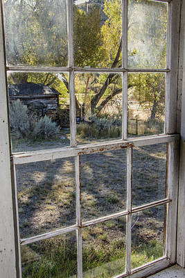 Photograph - Through The Windows Of Bannack 8 by Teresa Wilson
