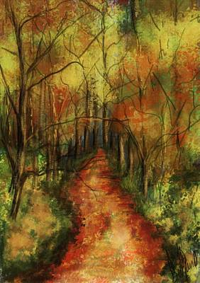 Painting - Through The Woods by Annette Berglund