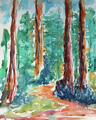 Painting - Through The Woods Watercolor by CheyAnne Sexton