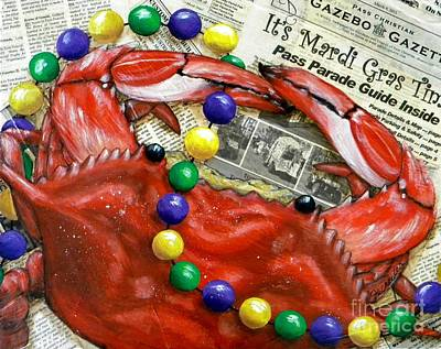 Crawfish Painting - Throw Me Somethin by JoAnn Wheeler