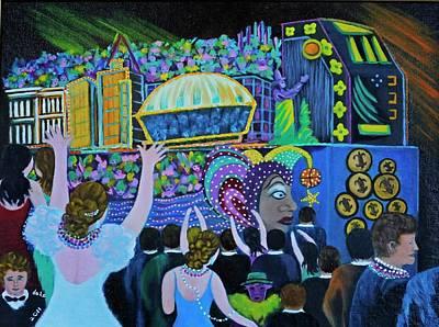 Parade Float Painting - Throw Me Something Mister by Douglas Ann Slusher