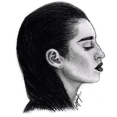 Sketch Drawing - Lauren Jauregui Drawing By Sofia Furniel by Jul V