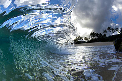 Glass Wave Photograph - Thrown Glass  -  Part 2 Of 3 by Sean Davey