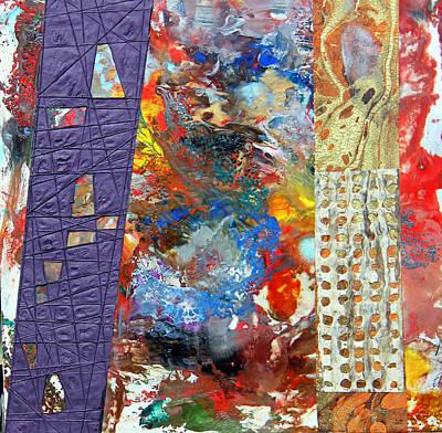 Multi-media Painting - Thrust by Robert W Dunlap