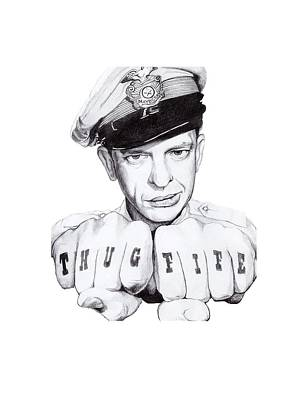 Don Knotts Drawing - Thug Fife by Noelle Lucia