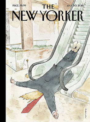 President Drawing - Thumbs Up by Barry Blitt
