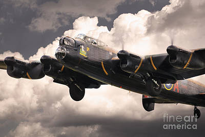 Lancaster Bomber Digital Art - Thumper Gets Airborne by J Biggadike