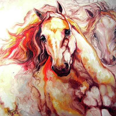 Palomino Painting - Thunder 24 by Marcia Baldwin