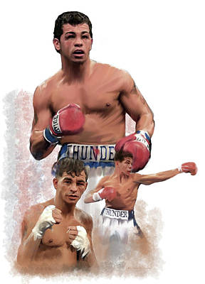 Painting - Thunder Alley Arturo Gatti by Iconic Images Art Gallery David Pucciarelli
