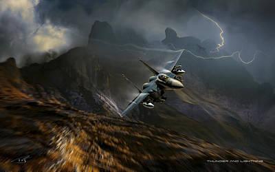 Thunder And Lightning Print by Peter Van Stigt