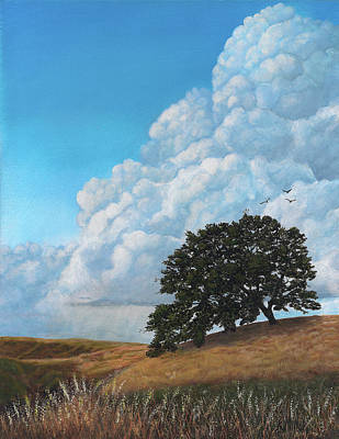 Painting - Thunder Clouds Mt. Diablo by Kathie Miller