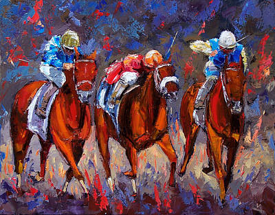 Kentucky Derby Painting - Thunder by Debra Hurd