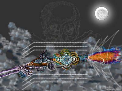 Thunder Gun Of The Dead Art Print