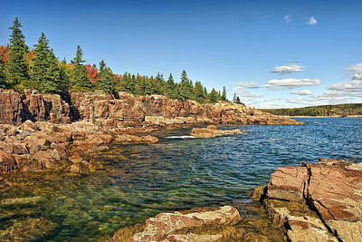Seascapes Photograph - Thunder Hole Coastline by Marcia Colelli