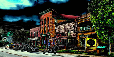 Thunder In Old Forge New York Art Print by David Patterson