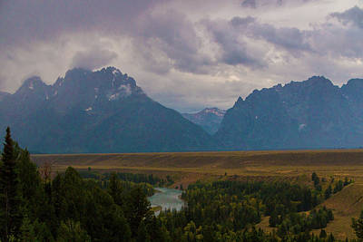 Photograph - Thunder In The Tetons by Laddie Halupa