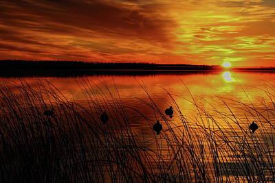 Photograph - Thunder Lake Sunrise by Dale Kauzlaric