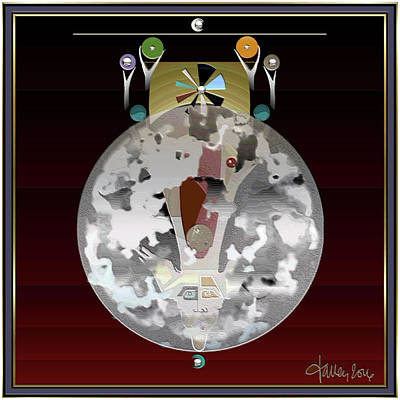 Mixed Media - Thunder Moon / Buck Moon by Larry Talley