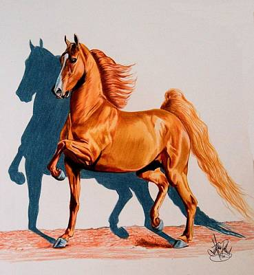 Painting - Saddlebred Thunder Nite by Cheryl Poland