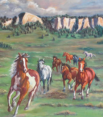 Painting - Thunder On The Pine Ridge by Jean Ann Curry Hess