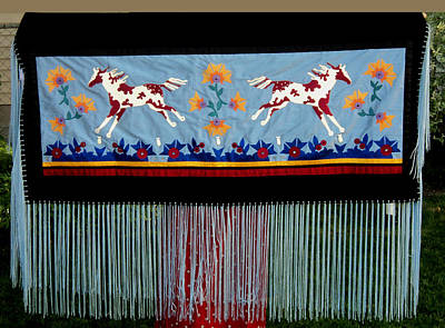 Wall Art - Tapestry - Textile - Thunder Pony by Chholing Taha